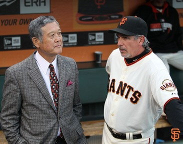 San Francisco Giants, S.F. Giants, photo, 2014, Japanese Heritage Night,Masanori Murakami, Ron Wotus